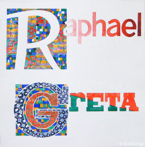"Personalized Name Art ""Raphael & Greta"""