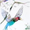 Akvarelės paveikslas «Du Paukščiai ir Žiogai»