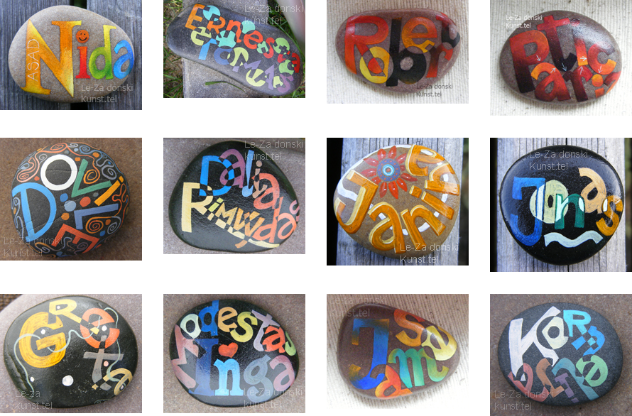 name art a sea stone/pebble/rock, stone artist Leonid Zаdonski (Le-Za)