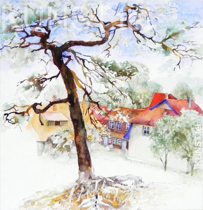"watercolor painting ""Pine Tree in Nida"""
