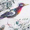 Картина акварелью «Кое что сладко-горькое для Птицы»