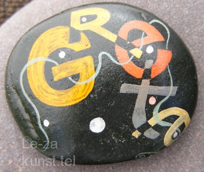 """Greta"" - name art on sea stones, painting-artist Leonid Zαdonski (Le-Za)"