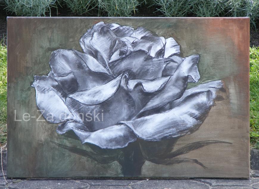 """Piešinys paveikslui """"Rožė"""""""