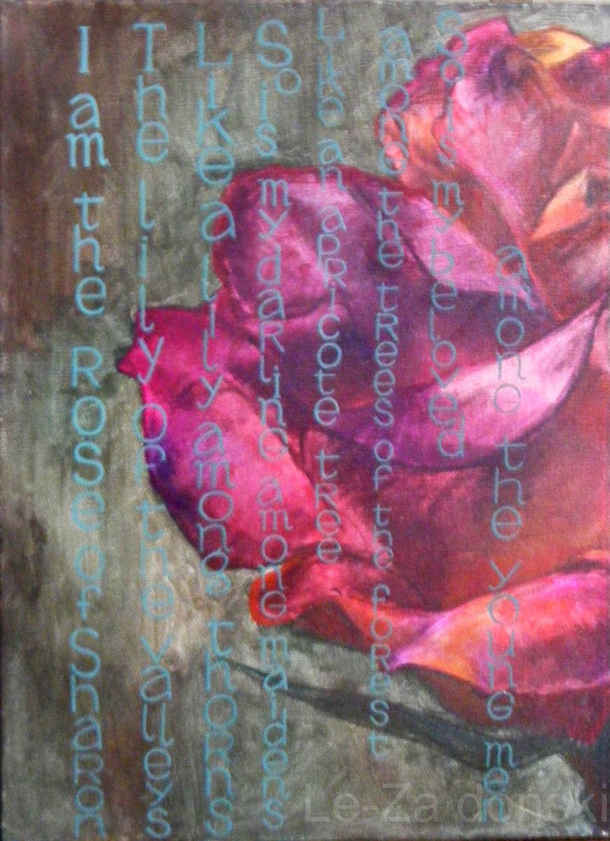 Paveikslas 'Rožė' ('Rose'), fragmentas, dailininkas-tapytojas Le-Za